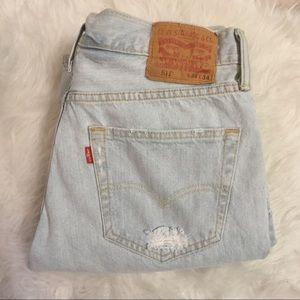 Levi's 514 Slim Fit Distressed Denim Jeans
